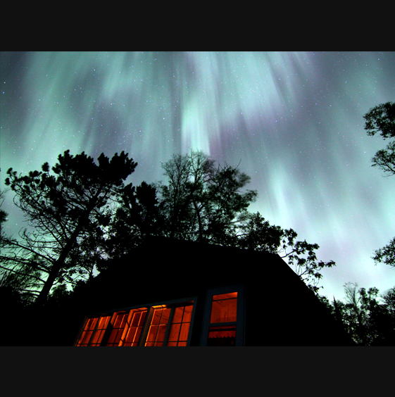 Northern Lights over cabin 8 by Greg Gibbons 2013